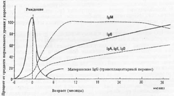 График продукции сывороточных иммуноглобулинов